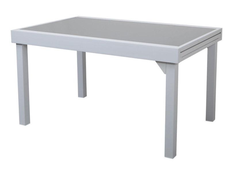 Table de jardin extensible en alu et verre - modena - Vente ...