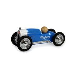 Petite voiture en métal roadster bleue
