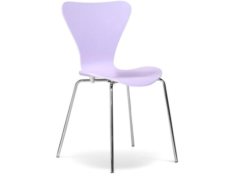 Chaise à manger série 7 arne jacobsen - bois - style mauve