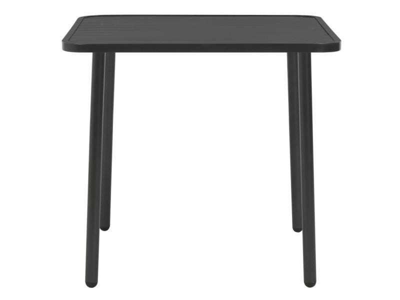 Icaverne - tables d'extérieur famille table à dîner d'extérieur acier 80 x 80 x 72 cm gris foncé