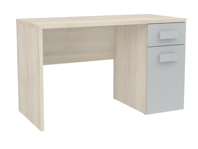 Bureau enfant avec tiroirs coloris acacia bleu dim x