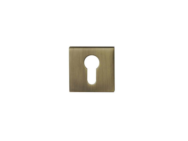 Rosaces carrés à cylindre - finition bronze x2 R2001BRO