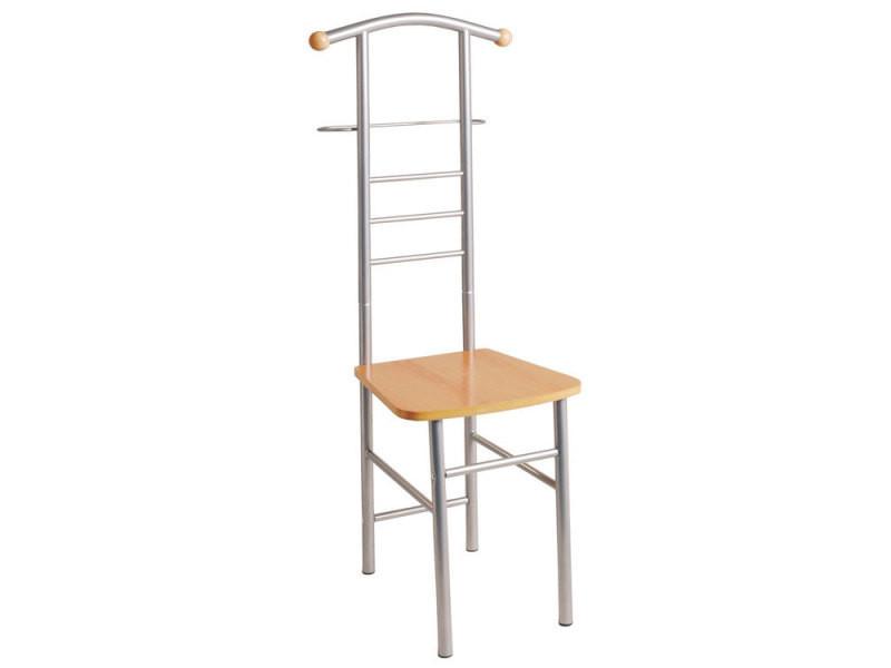 Valet de nuit / chaise acier laqué/bois hauteur 119cm mount - Vente ...