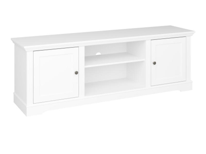 Meuble tv en mdf coloris extra blanc - 54 x 160 x 40 cm -pegane-