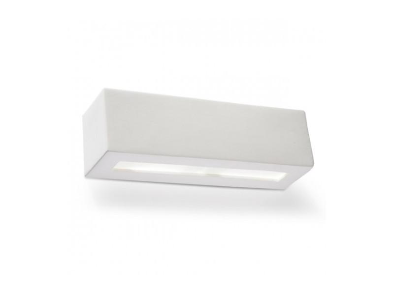 Applique murale vega céramique/verre blanc 1 ampoule