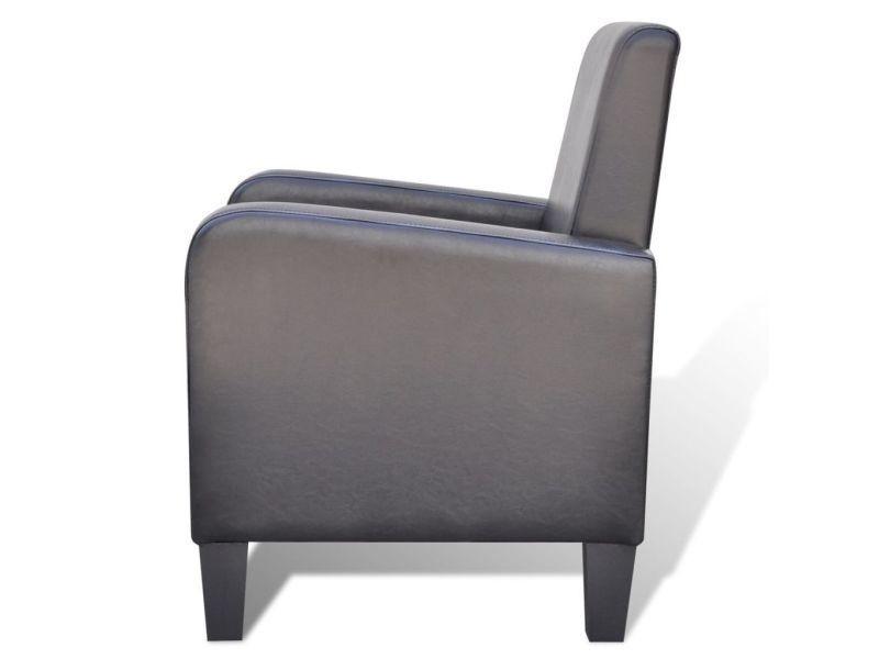 Vidaxl fauteuil cuir synthétique noir 241109 Vente de