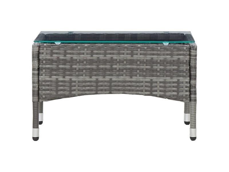 Icaverne - tables de jardin gamme table basse gris 60x40x36 cm résine tressée