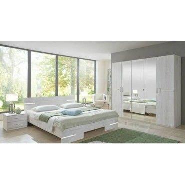 chambre coucher caramella ch ne blanc 20100866521 conforama. Black Bedroom Furniture Sets. Home Design Ideas