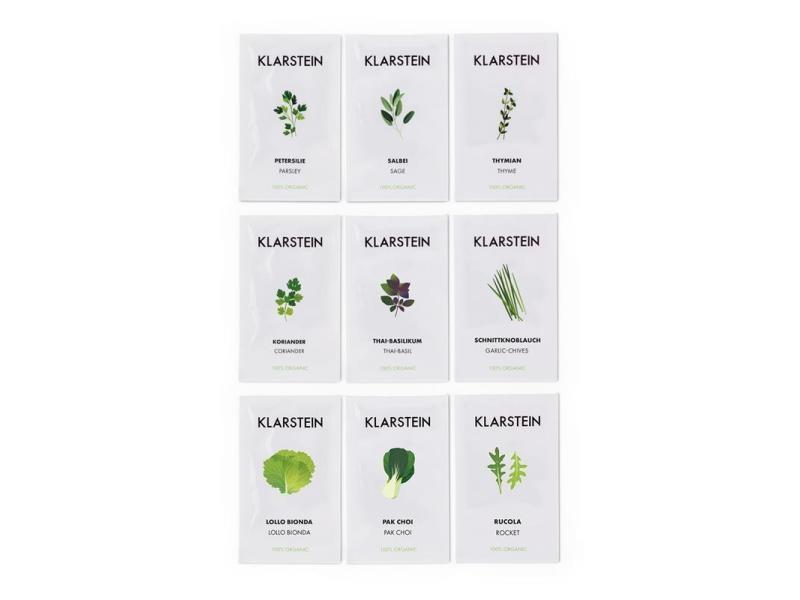 Klarstein growit seeds set de graines 9 herbes : 3x asie 3x europe 3x salade GrowIt_Samen_Set