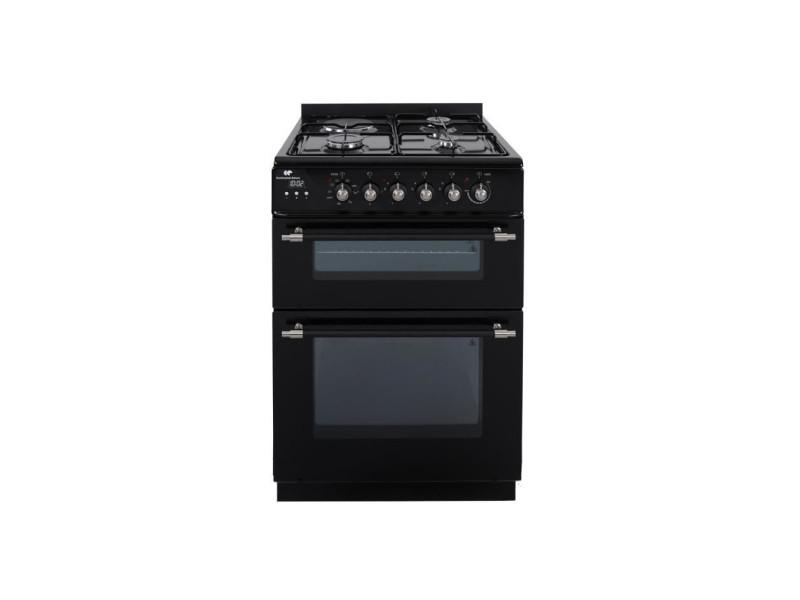 Continental edison - cuisiniere mixte 3 + 1, 60 x60 - 3 foyers gaz + electrique - 2 fours 56l + 28l