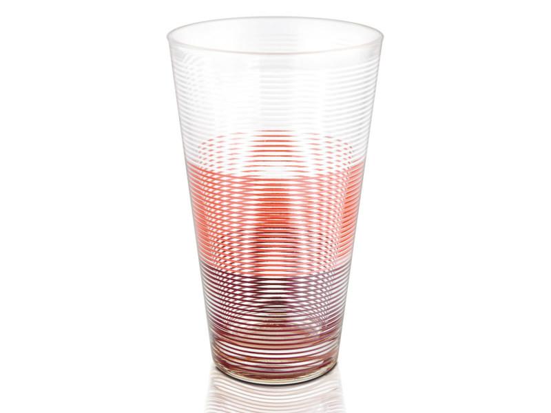Gobelet haut 33 cl circles pink (lot de 6)