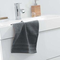 Serviette de toilette d'invite uni vitamine anthracite 30 x 50 cm