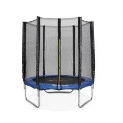 Trampoline rond cassiopée ø 180cm bleu avec son filet de protection - trampoline de jardin 2m| qualité pro.| normes eu.