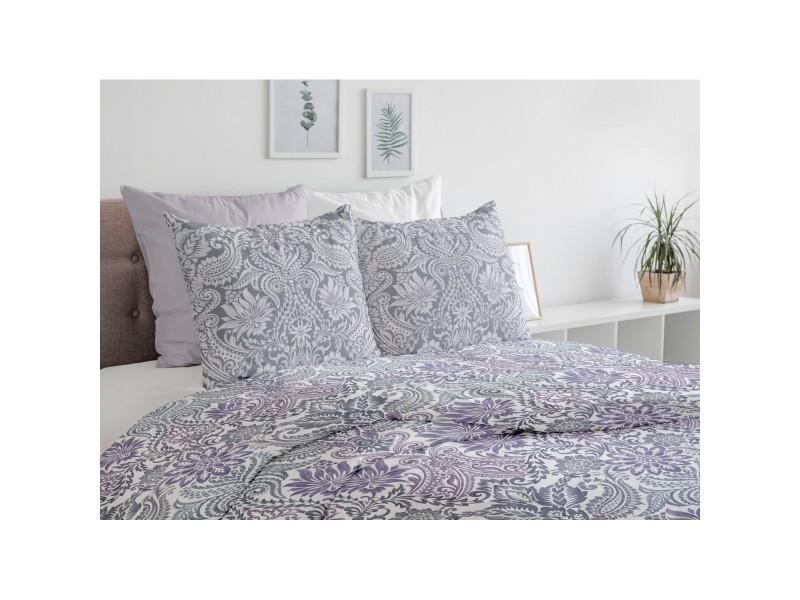 Parure de draps - pièces belladonna 57 fils - 2 personnes 240x300 cm - violet prune