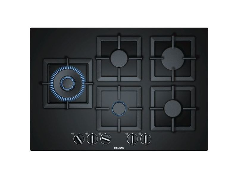 Table verre gaz 75cm noir fleur de plan - ep7a6sb20 ep7a6sb20