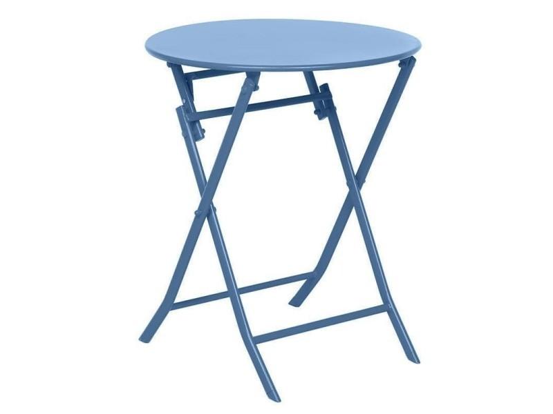 Table de jardin ronde hespéride 60cm greensboro bleuet ...