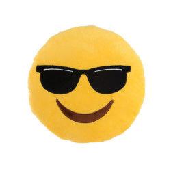 Peluche coussin emoji lunette de soleil