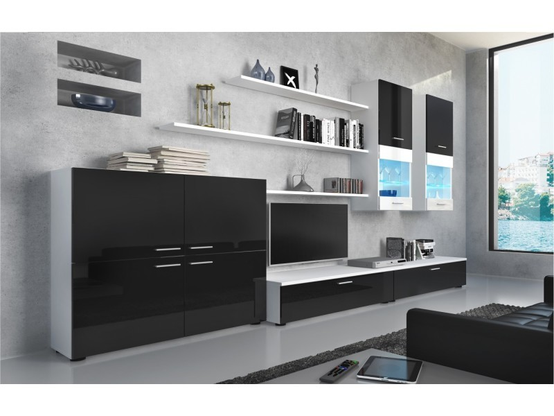 ensemble meuble tv laque
