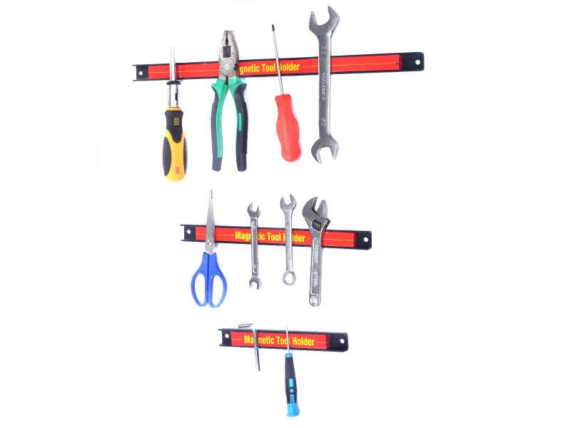 Giantex barres magnétiques pour outils 3 pièces porte-outils magnétique aimant puissant pour rangement 200 mm,305 mm et 460 mm