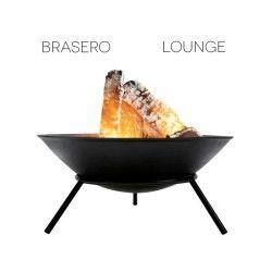 Brasero lounge en fonte noir 56 cm