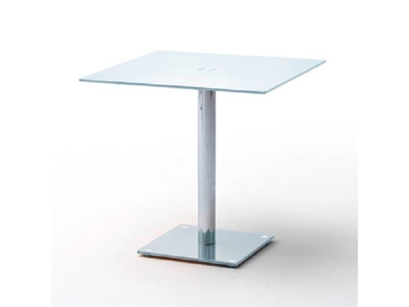 Table repas carrée design fani en verre blanc 20100871997