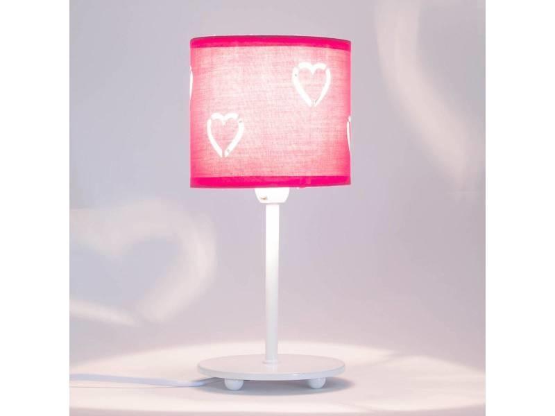 lampe de chevet anis rose en m tal vente de keria luminaires conforama. Black Bedroom Furniture Sets. Home Design Ideas