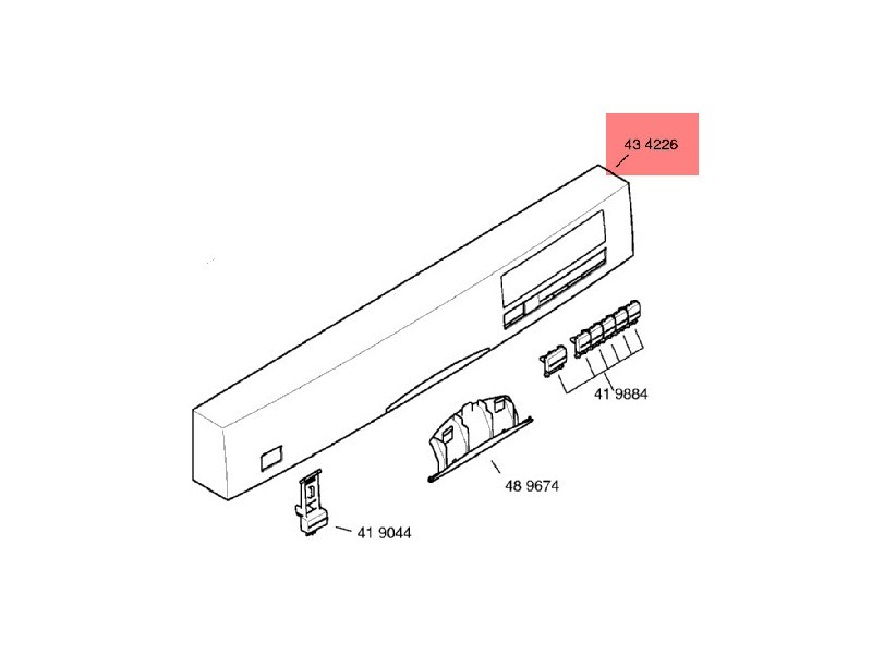 Bandeau de commande blanc pour lave vaisselle bosch - 00434226