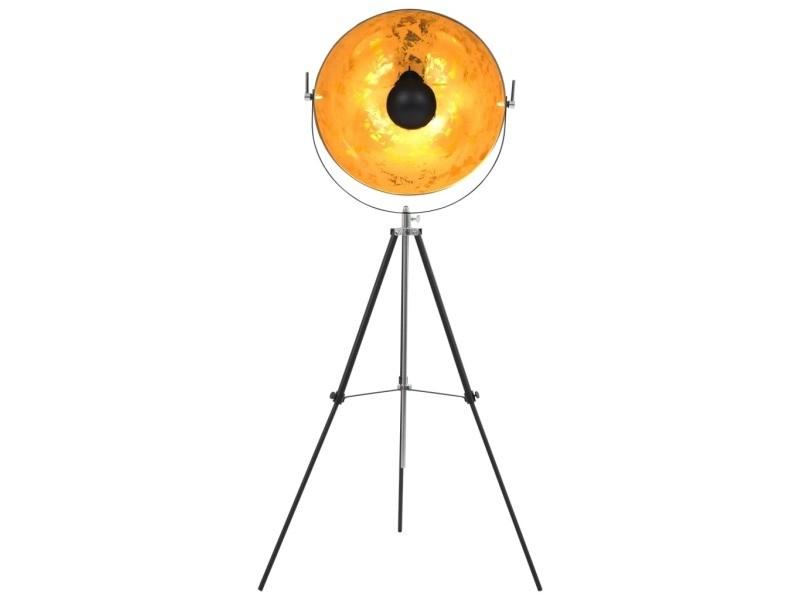 Icaverne - lampes ensemble lampadaire e27 noir et doré 51 cm