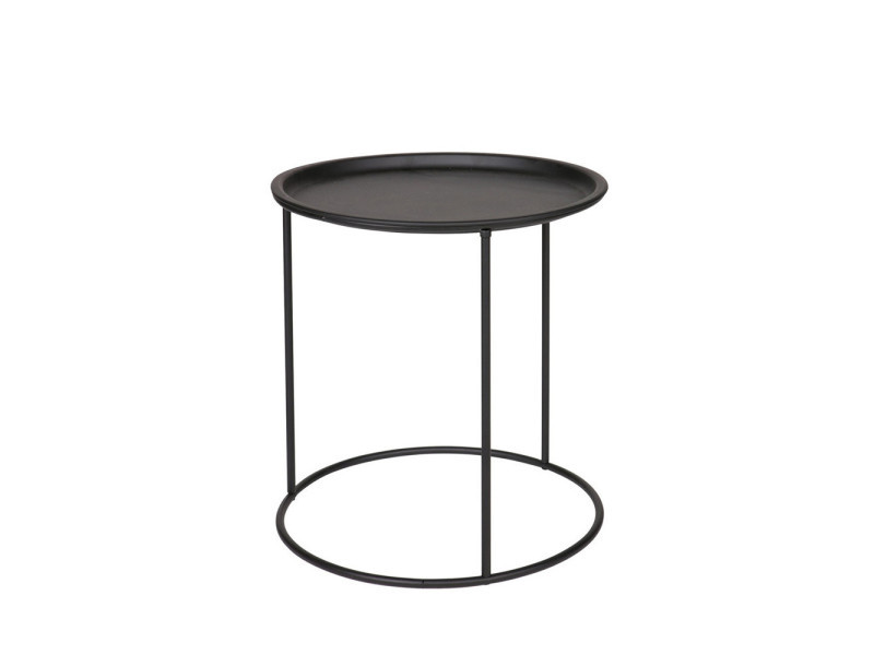 Ivar - table basse plateau amovible métal m - couleur - noir 375445-Z