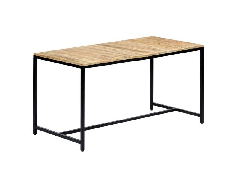 Sublime tables gamme washington table de salle à manger 140x70x75 cm bois manguier massif brut