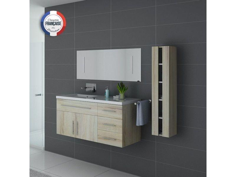 Meuble de salle de bain simple vasque urban scandinave - Meuble vasque salle de bain conforama ...