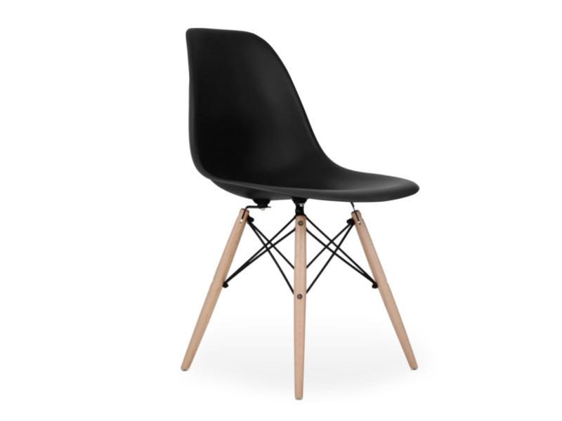 Chaise scandinave noire style eiffel