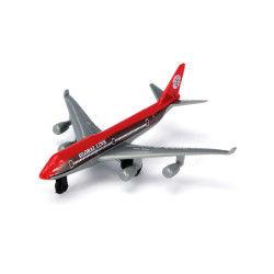 Avion de ligne en métal : rouge