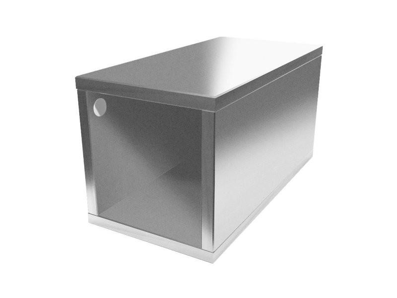 Cube de rangement bois 25x50 cm 25x50 gris aluminium CUBE25-GA