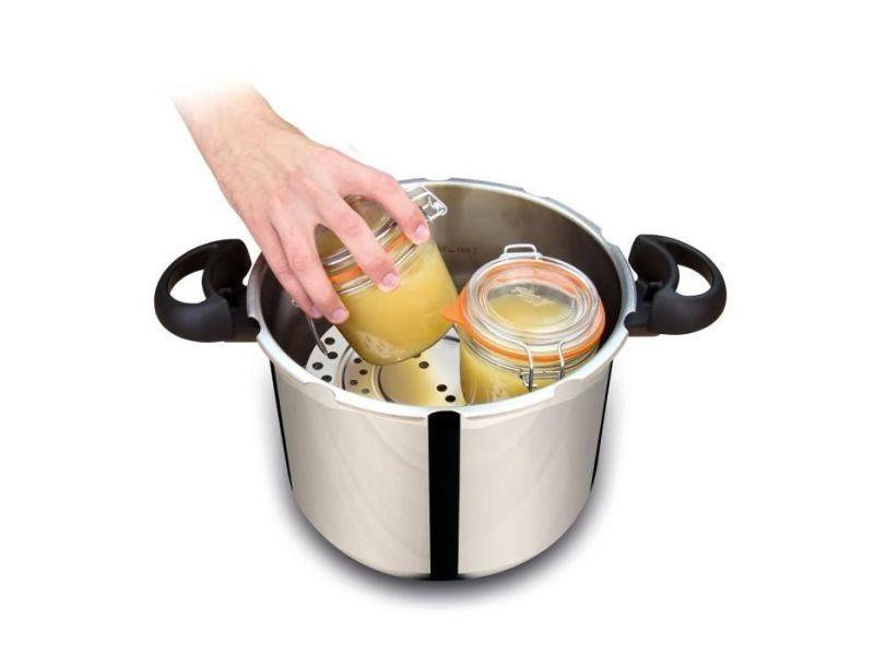 Autocuiseur - cocotte minute p4624922 autocuiseur clipsominut' easy 9 l + kit sterilisation + livre de recettes