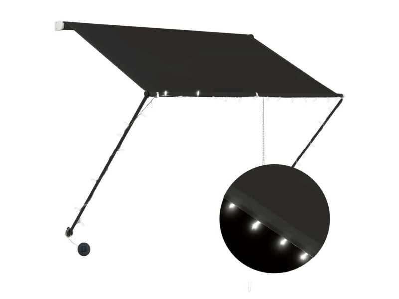 Vidaxl auvent rétractable avec led 150x150 cm anthracite 145915