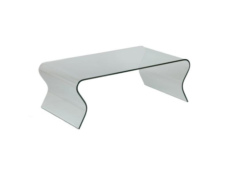 Table basse en verre vague l 120 x l 65 x h 42 neuf vente de tousmesmeubles conforama - Table basse conforama en verre ...