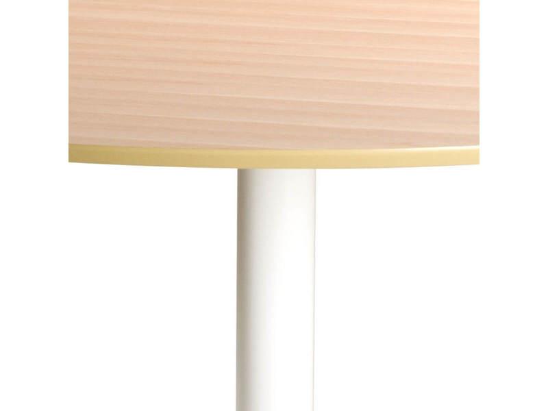 Bobochic table à manger 110 cm pocket blanc et chêne