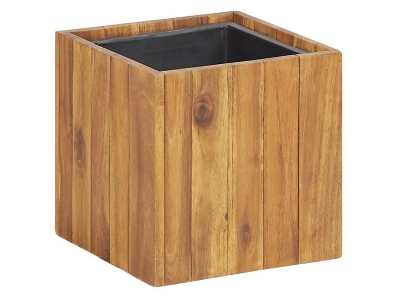 Joli jardinage collection apia lit surélevé de jardin 24,5x24,5x24,5 cm bois massif d'acacia