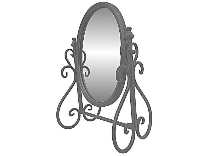 miroir psych inclinable poser de coiffeuse en fer cm 10426 vente de miroir sur pied