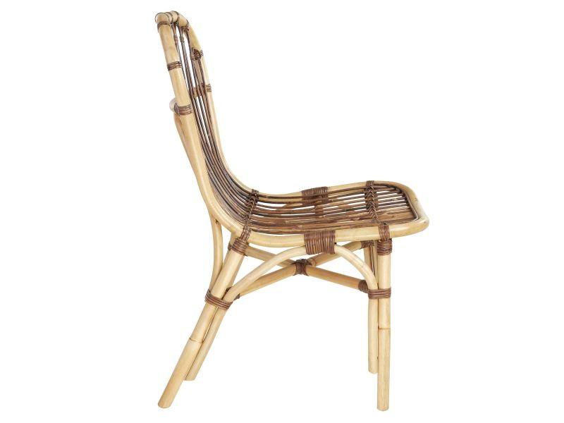 chaise elise en rotin croco conforama. Black Bedroom Furniture Sets. Home Design Ideas