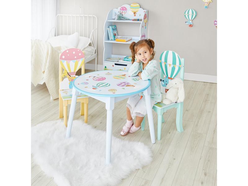 Table montgolfière chambre enfant meuble en bois pour enfant td-13122a1