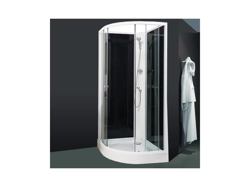 cabine compl te 1 4 de cercle 80x80 conforama. Black Bedroom Furniture Sets. Home Design Ideas