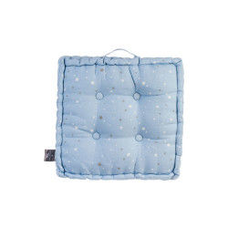 Coussin de sol bleu 40 x 40 cm imprimé étoiles