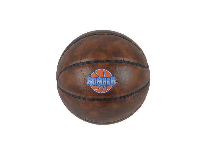 Ballon de basket bumber marron foncé ø24,5 avec embout de pompe et filet de transport