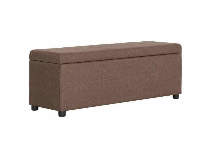 Banquette pouf tabouret meuble banc avec compartiment de