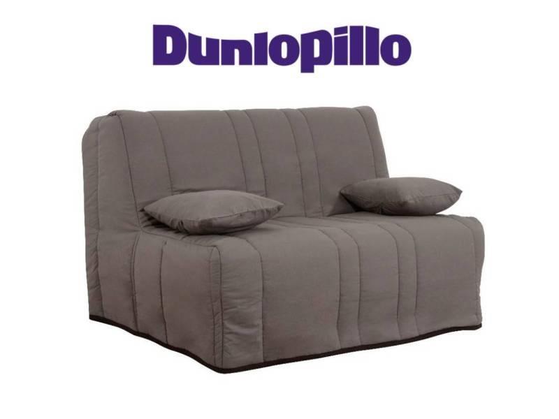Canapé convertible bz milo taupe système slyde matelas dunlopillo 13cm couchage 160*200cm 20100875419