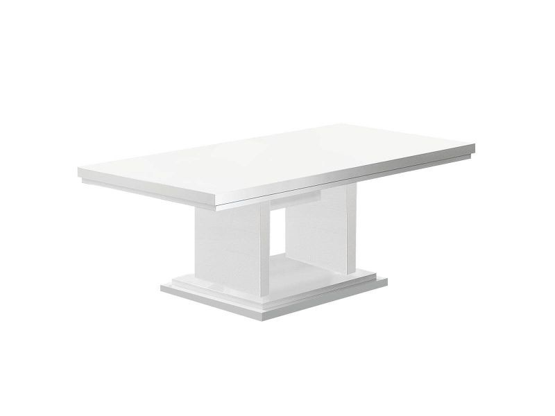 Tahoe - table basse plateau laqué brillant blanc