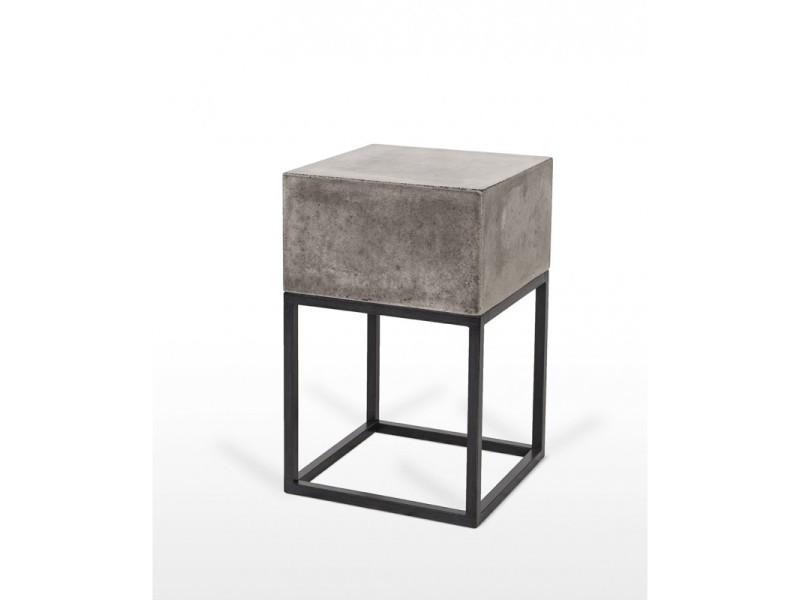 Table d'appoint design moderne industriel - grey