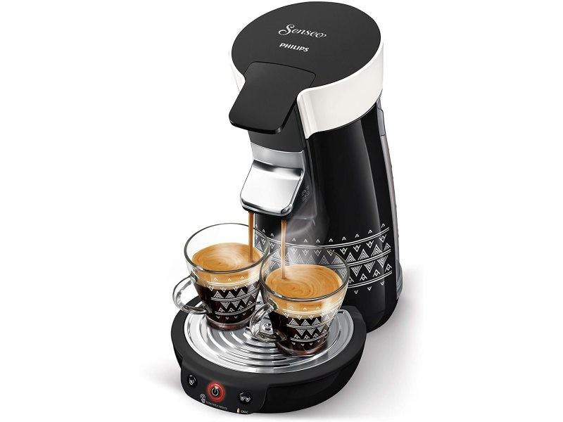 Machine à café à dosettes senseo de 0,9l blanc noir